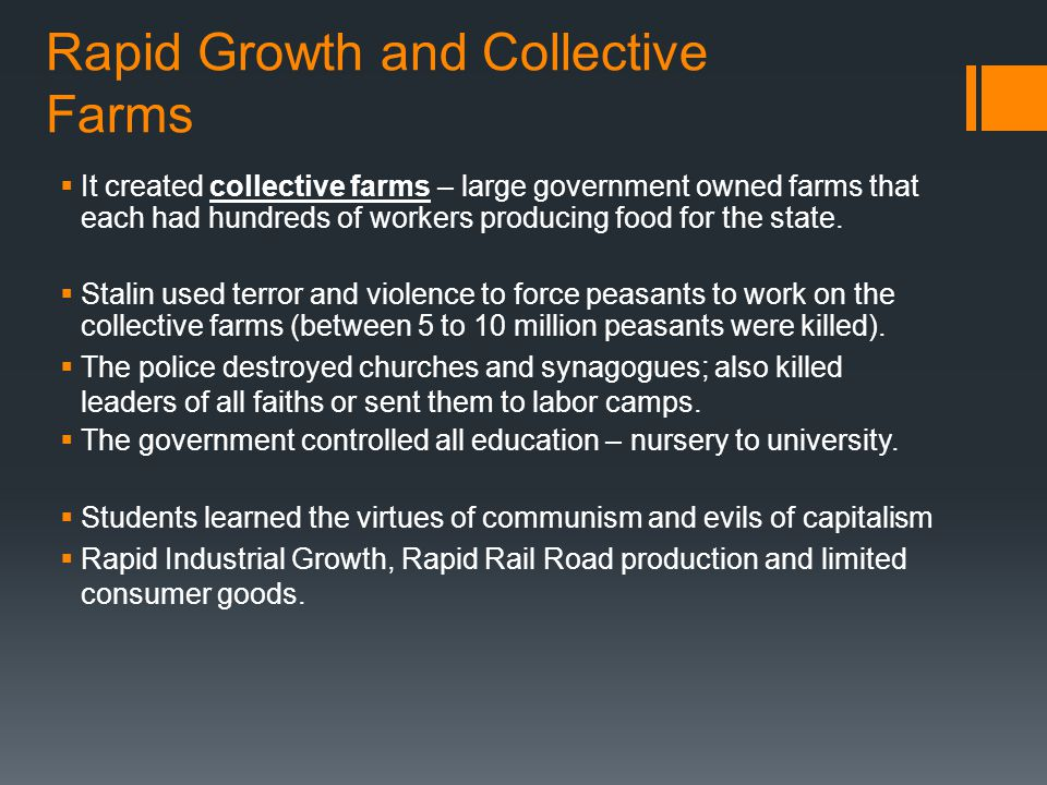 Rapid Growth and Collective Farms