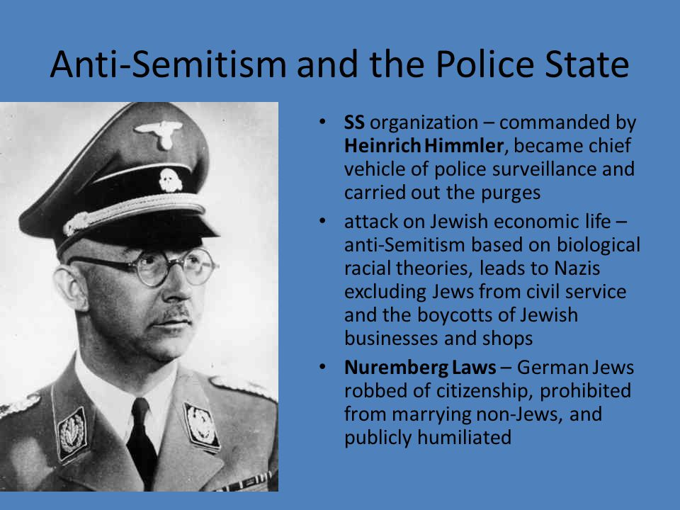 Anti-Semitism and the Police State
