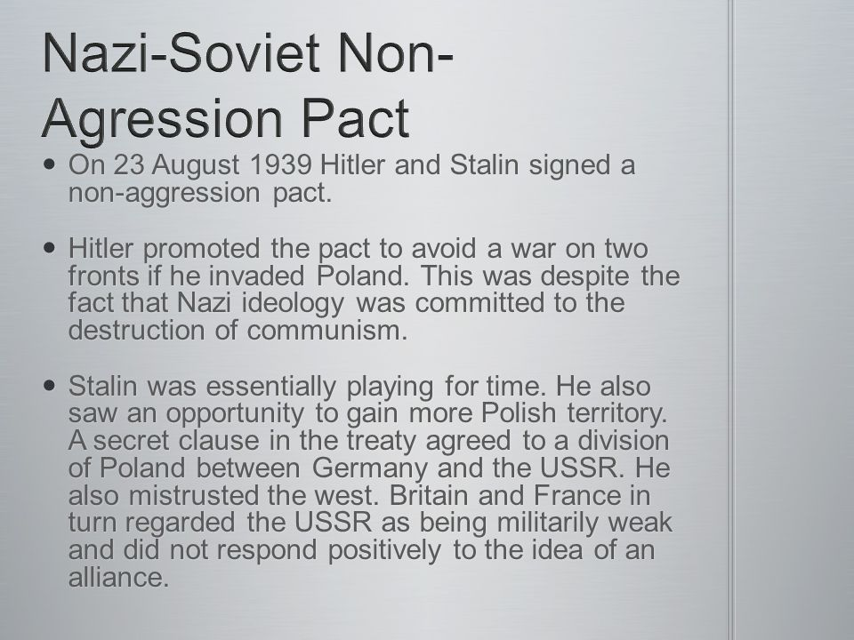 Nazi-Soviet Non-Agression Pact