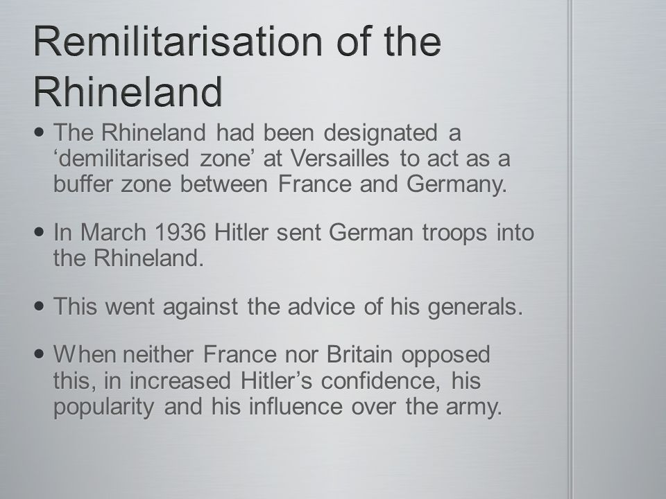 Remilitarisation of the Rhineland
