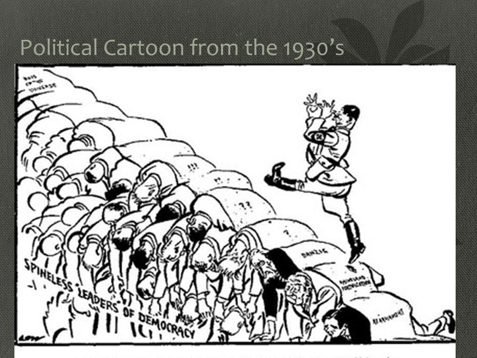 Political Cartoon from the 1930's