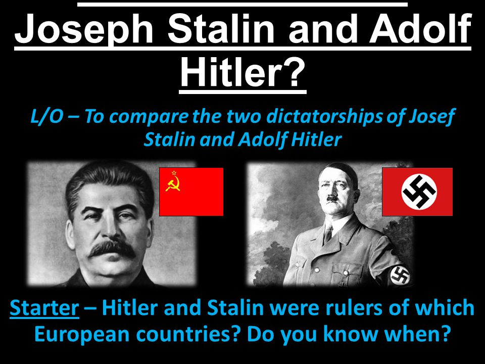 a comparison of hitler and stalin in their rise to power Compare and contrast the rise to power of hitler and stalin unsuited to their jobs stalin however hitler and castro  stalin's rise to power.