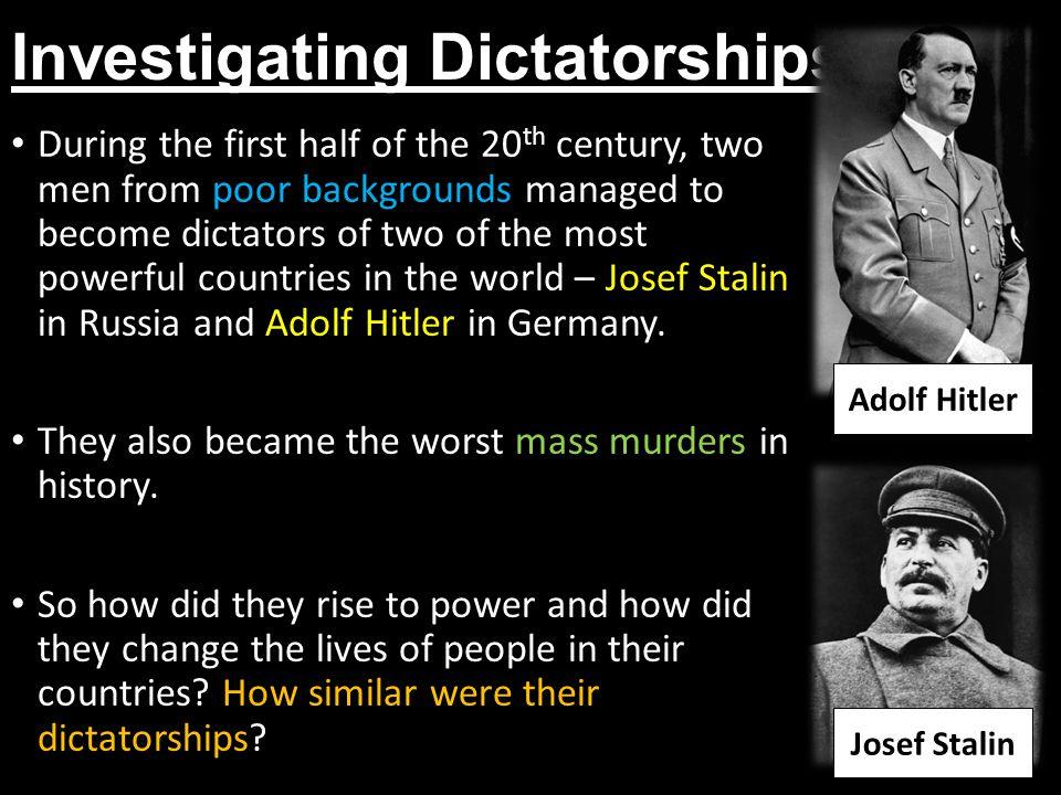 Investigating Dictatorships