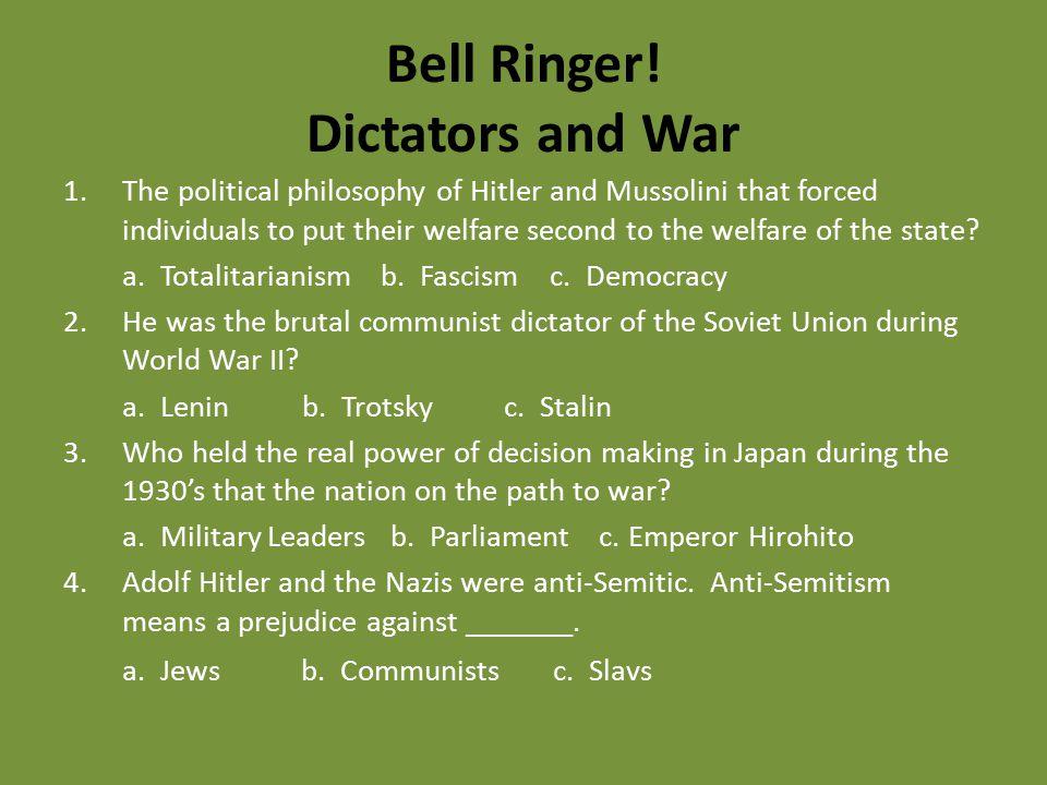 Bell Ringer! Dictators and War