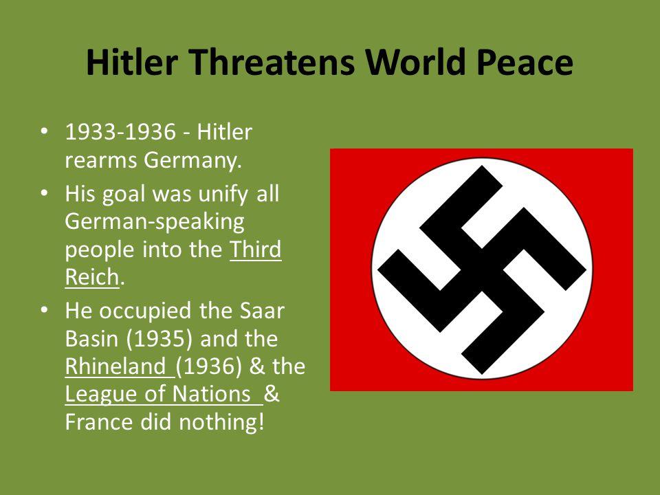 Hitler Threatens World Peace