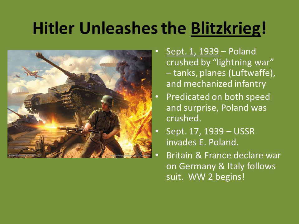 Hitler Unleashes the Blitzkrieg!