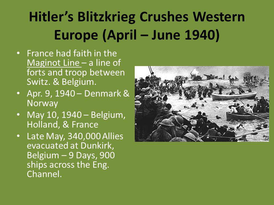 Hitler's Blitzkrieg Crushes Western Europe (April – June 1940)
