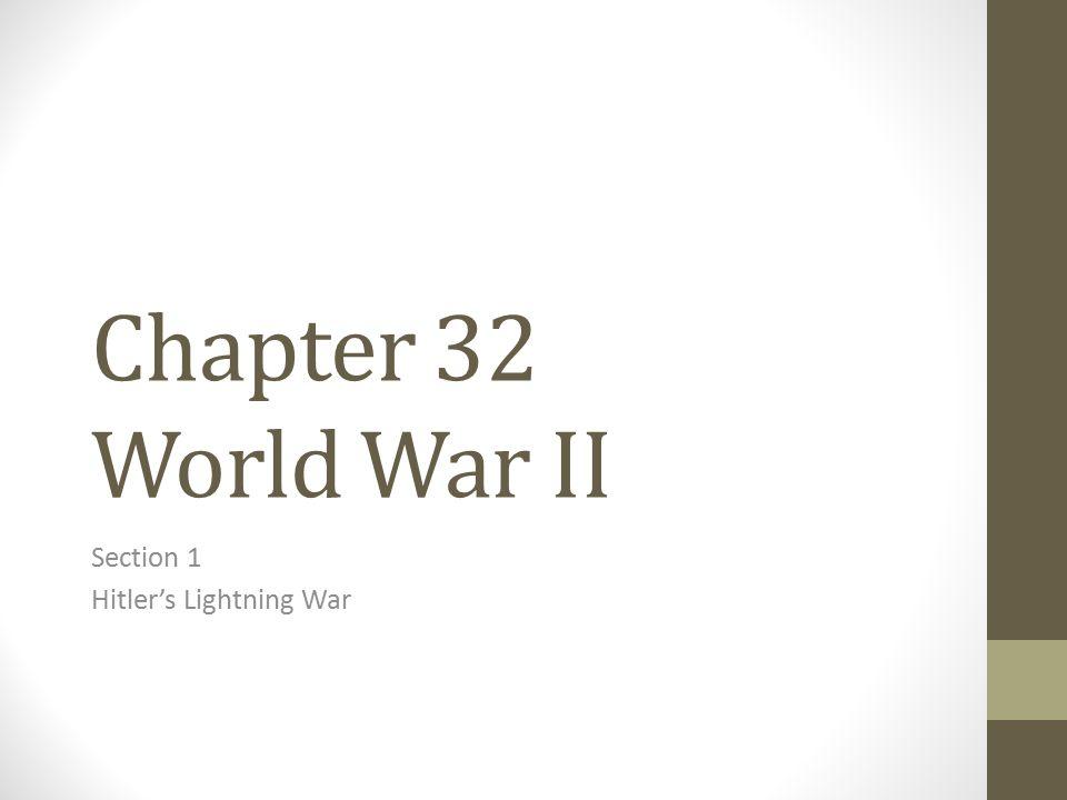Section 1 Hitler's Lightning War