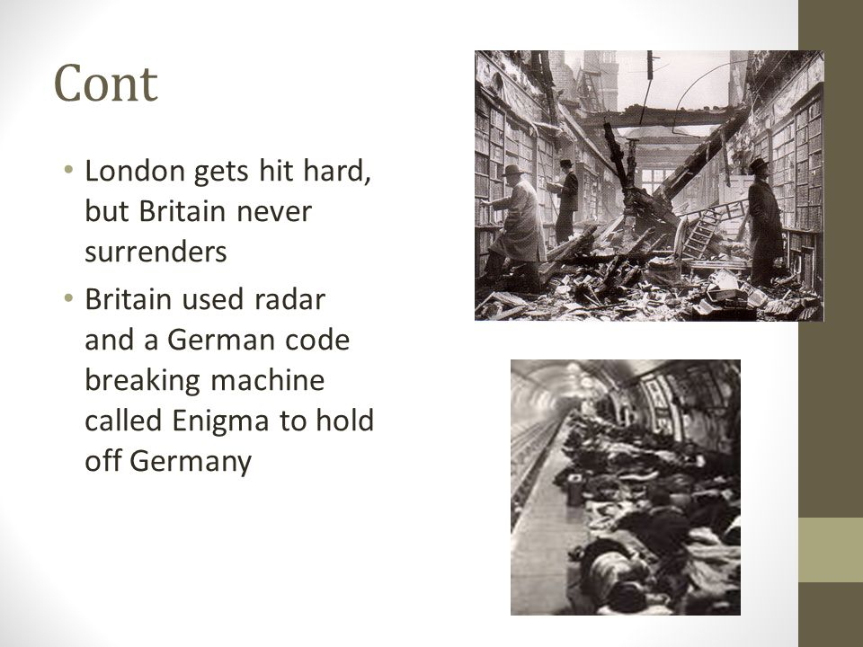 Cont London gets hit hard, but Britain never surrenders