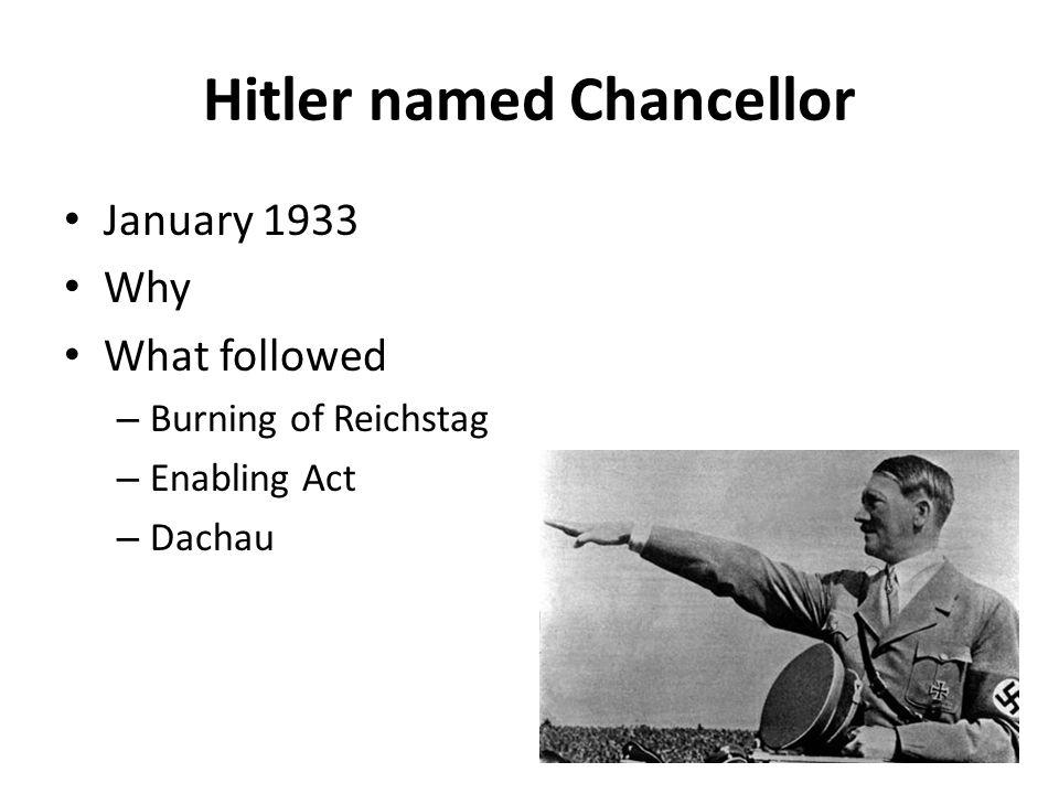 Hitler named Chancellor