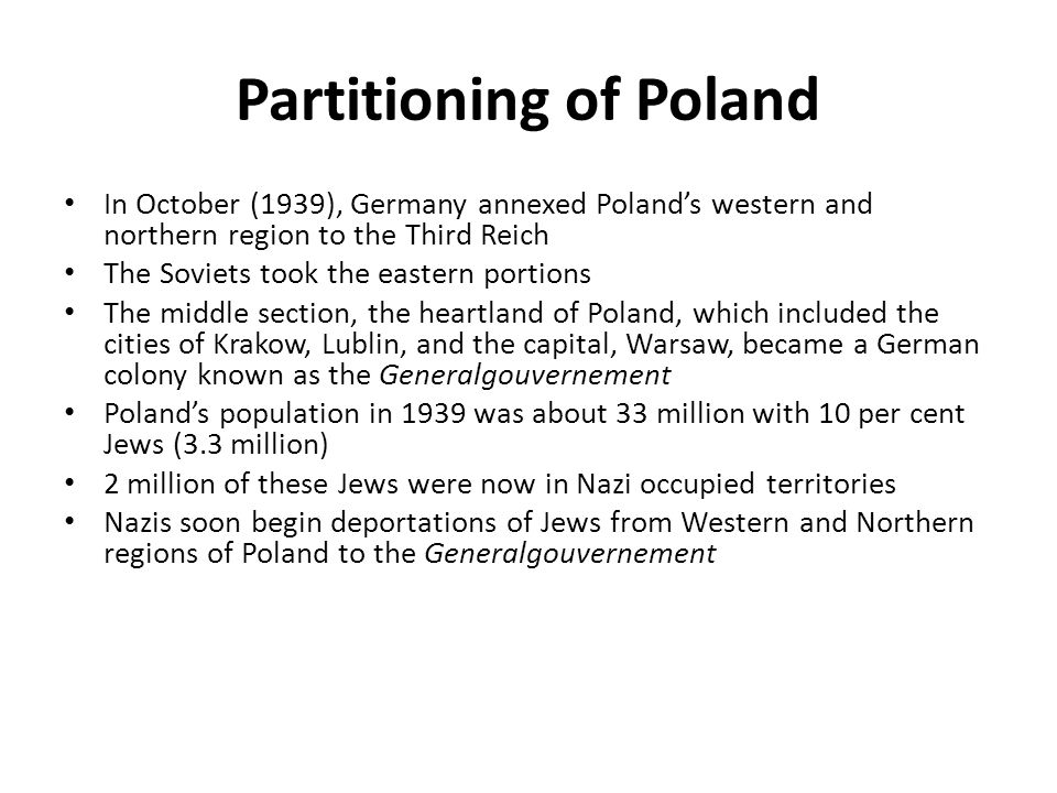 Partitioning of Poland