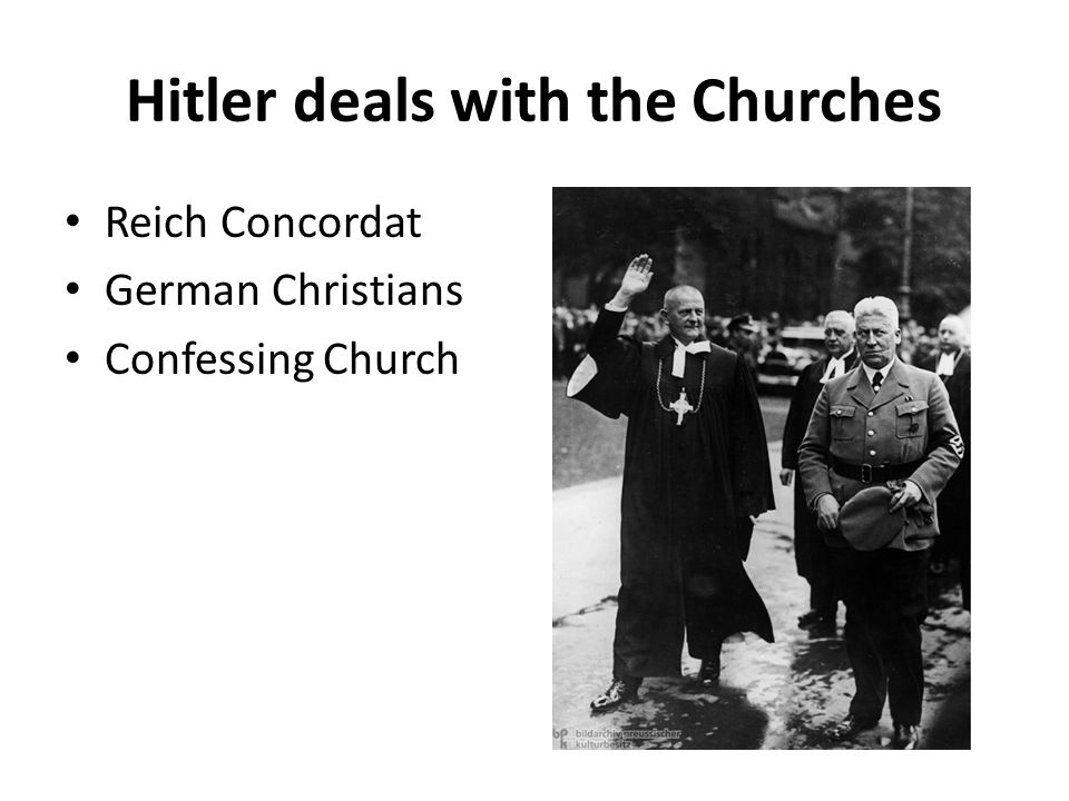 Hitler deals with the Churches