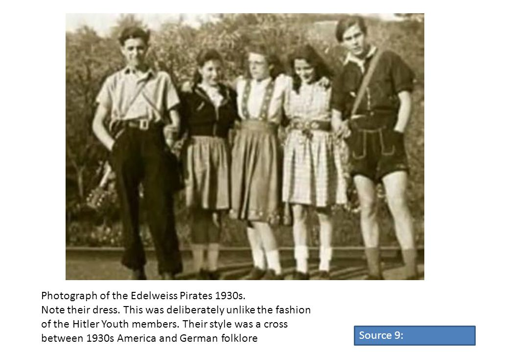 Photograph of the Edelweiss Pirates 1930s.