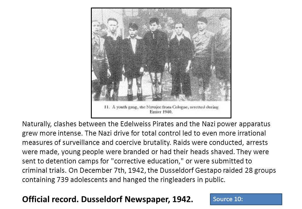 Official record. Dusseldorf Newspaper, 1942.