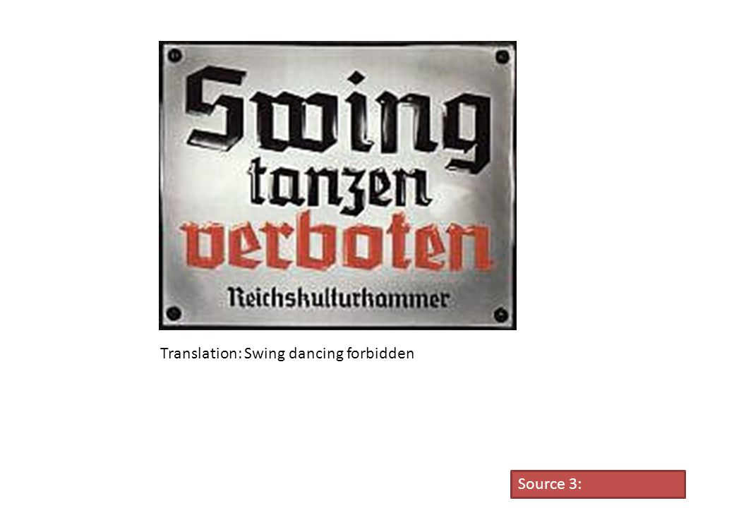 Translation: Swing dancing forbidden