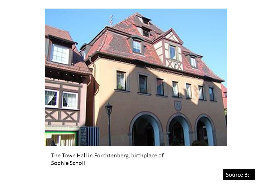 The Town Hall in Forchtenberg, birthplace of Sophie Scholl