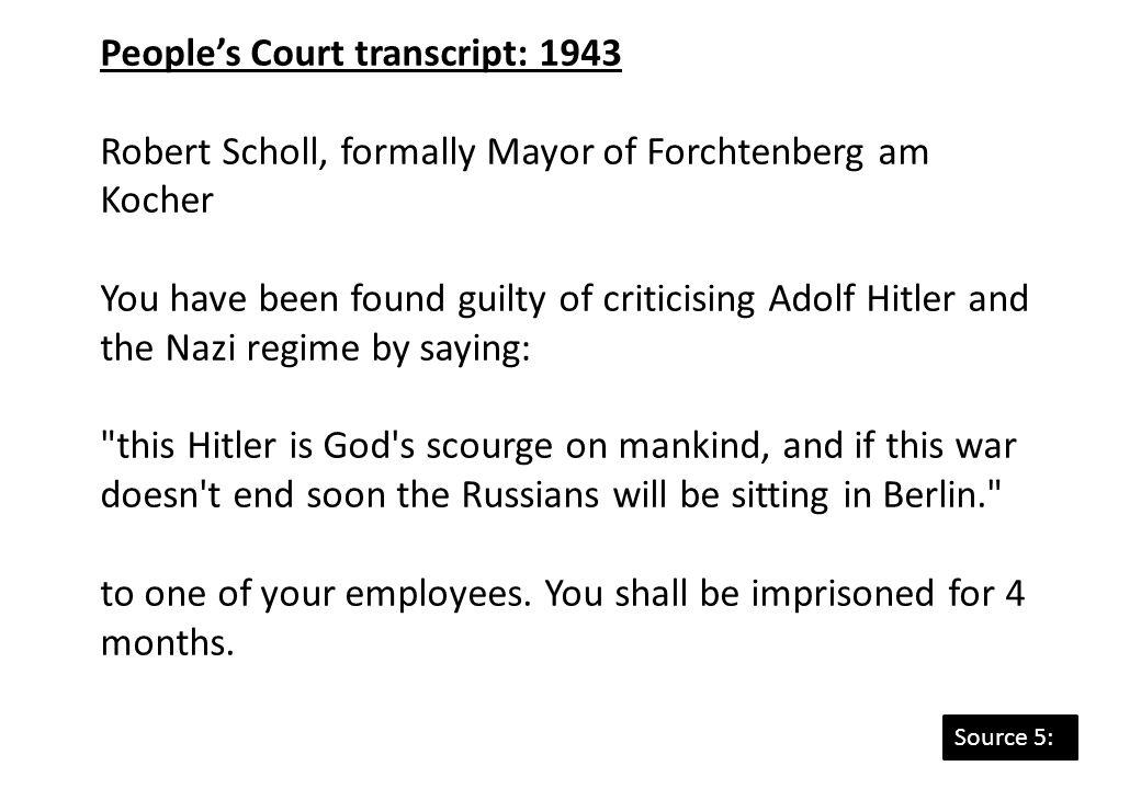 People's Court transcript: 1943
