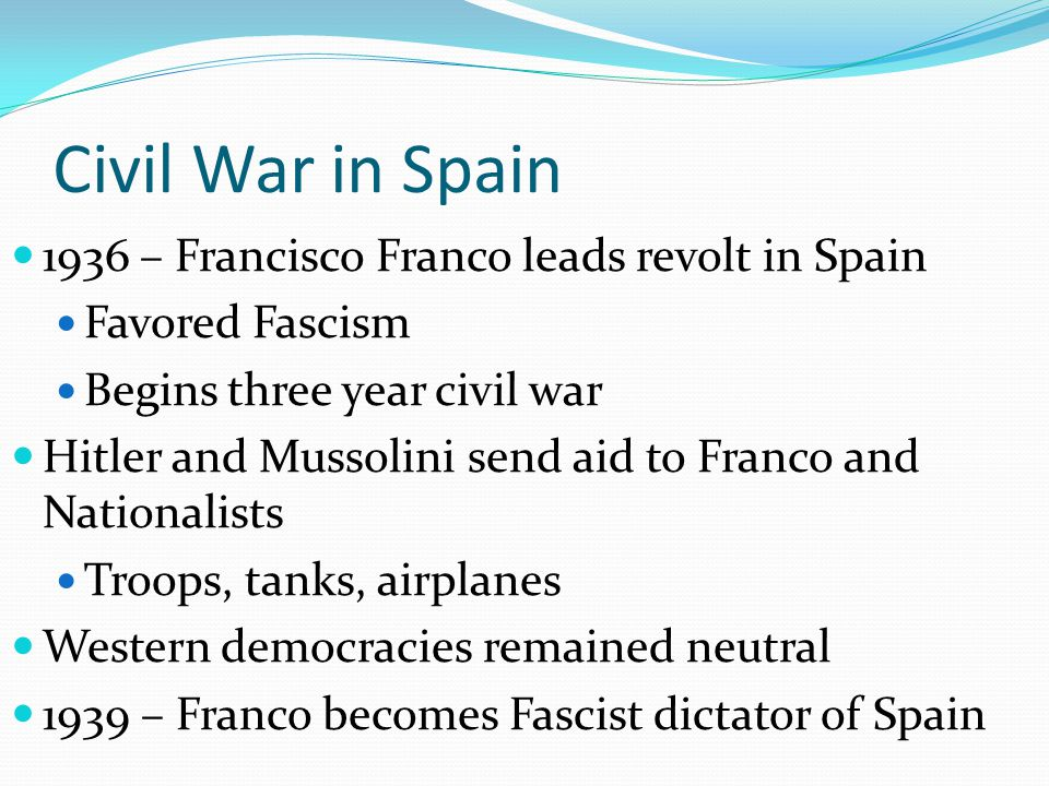 Civil War in Spain 1936 – Francisco Franco leads revolt in Spain