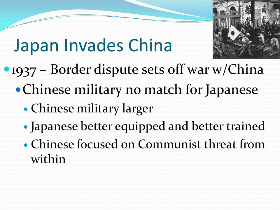 Japan Invades China 1937 – Border dispute sets off war w/China