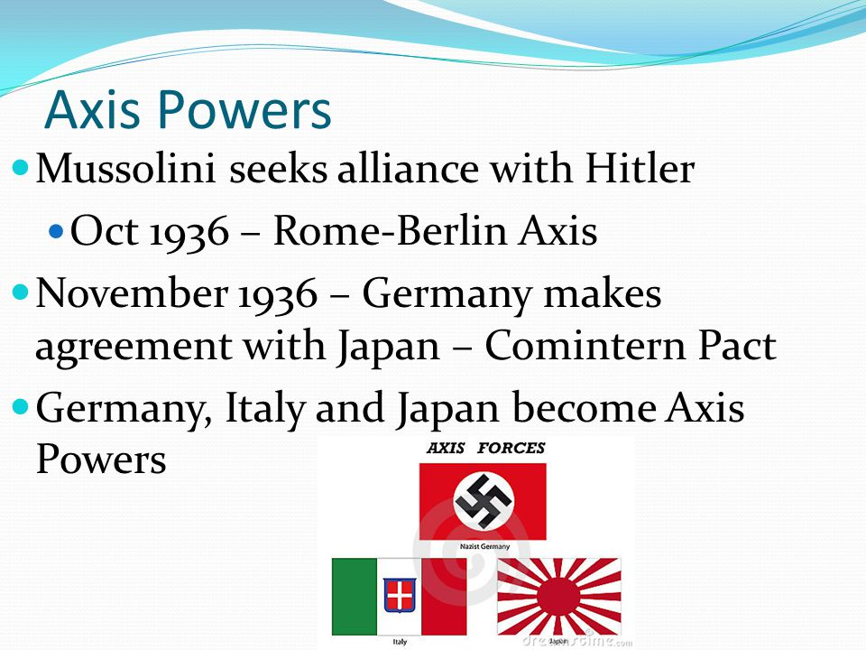 Axis Powers Mussolini seeks alliance with Hitler