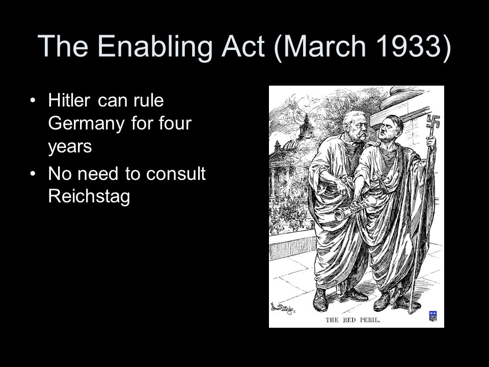 The Enabling Act (March 1933)