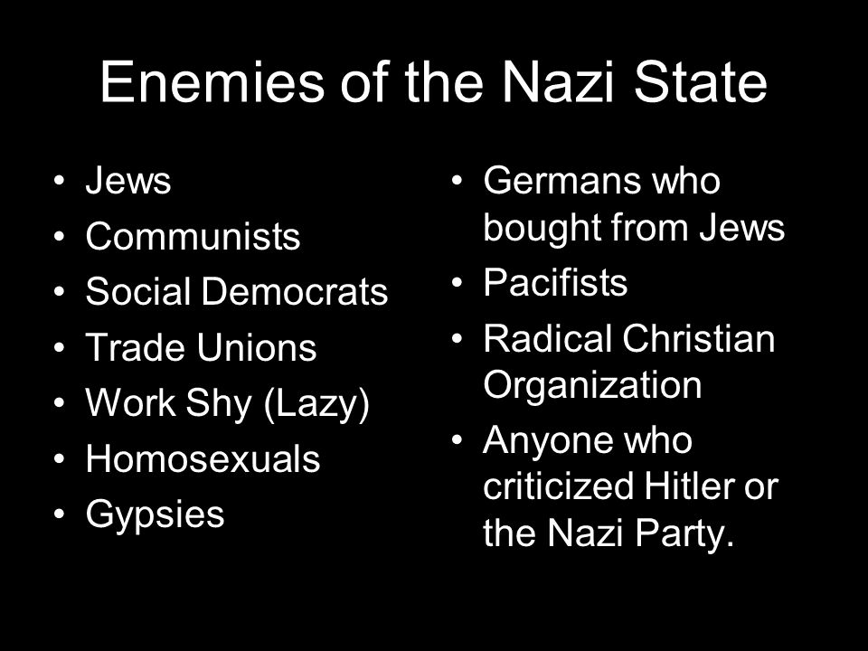 Enemies of the Nazi State