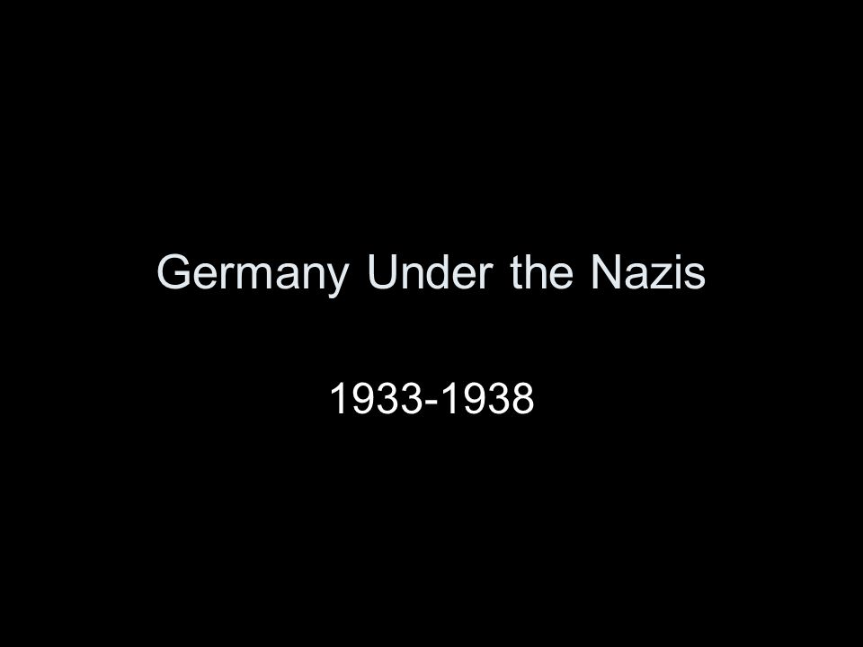 Germany Under the Nazis