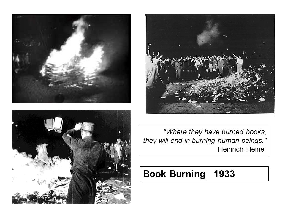 Where they have burned books, they will end in burning human beings