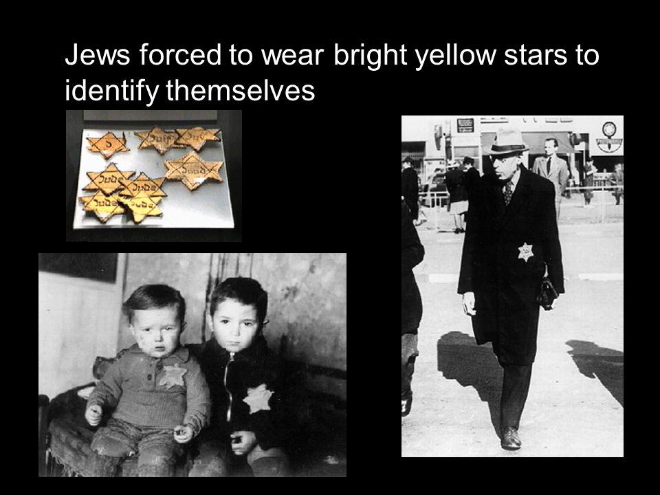 Jews forced to wear bright yellow stars to identify themselves