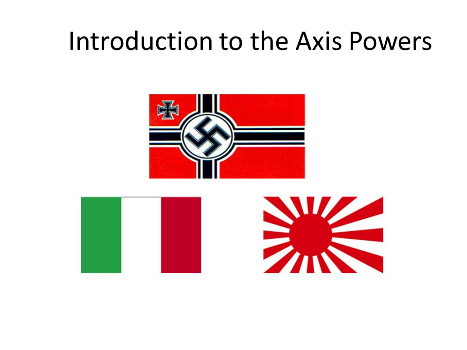 Introduction to the Axis Powers