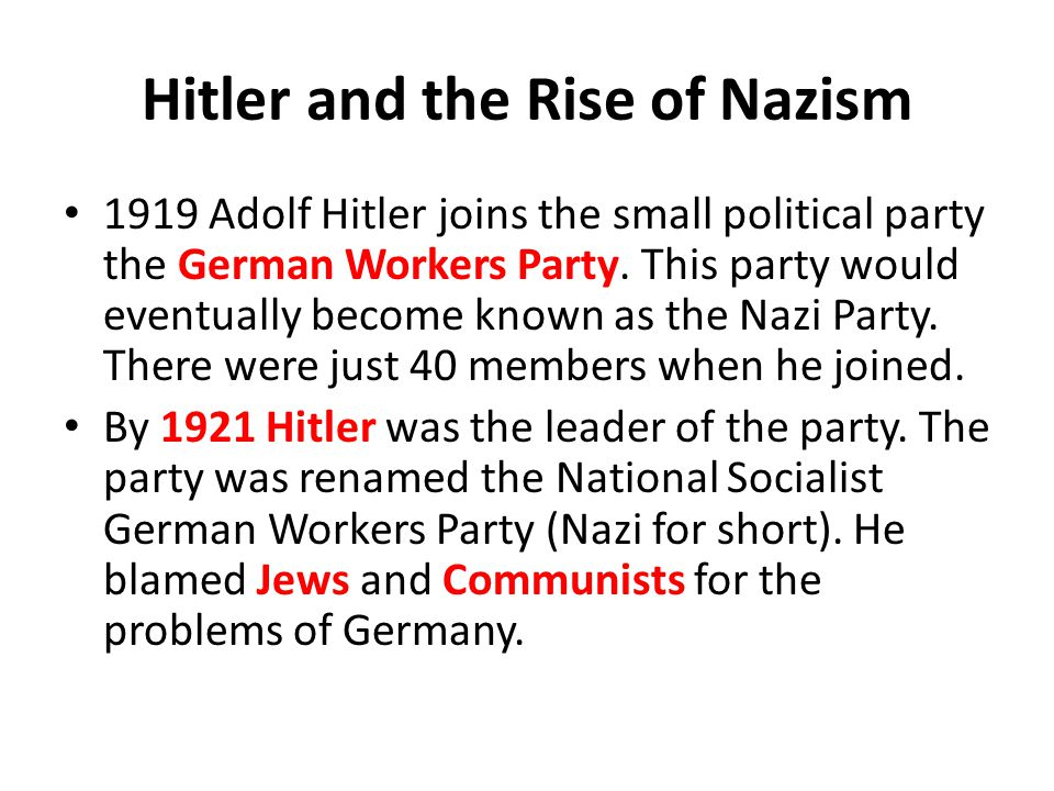 Hitler and the Rise of Nazism