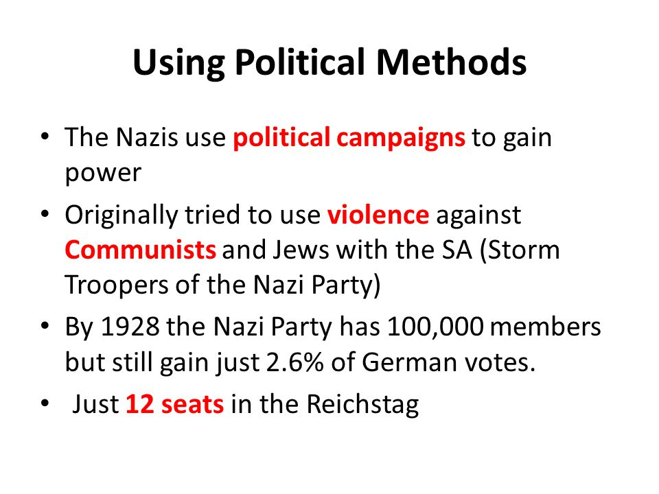Using Political Methods
