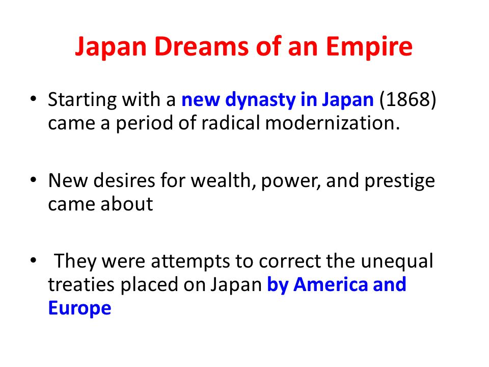 Japan Dreams of an Empire