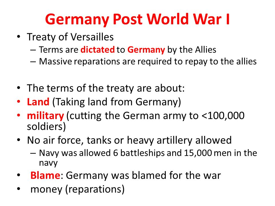 Germany Post World War I