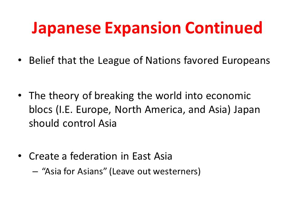 Japanese Expansion Continued