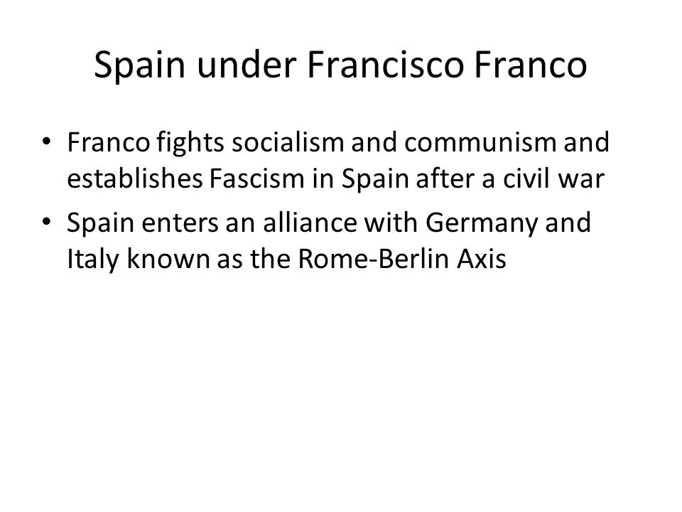 Spain under Francisco Franco
