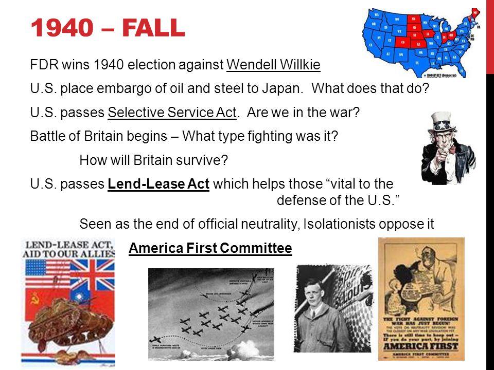 1940 – Fall