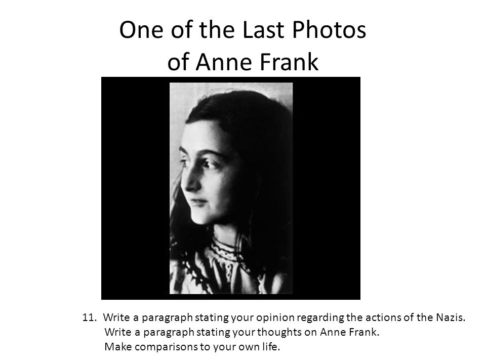 One of the Last Photos of Anne Frank