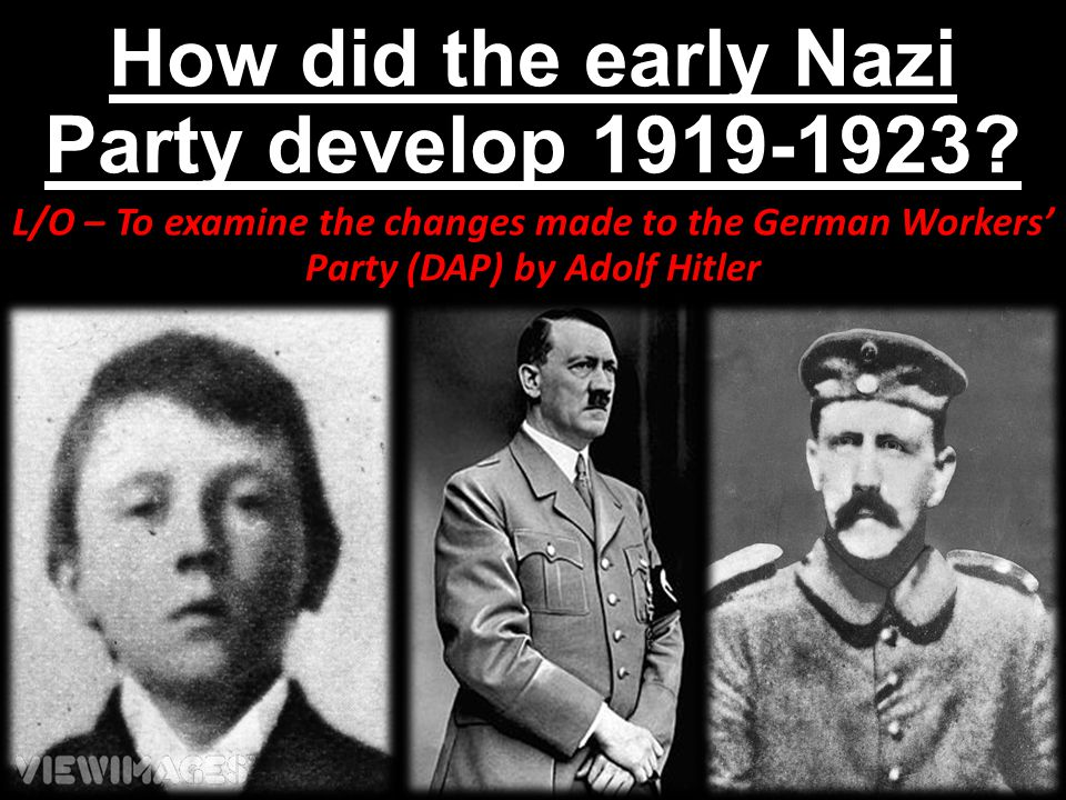 How did the early Nazi Party develop 1919-1923
