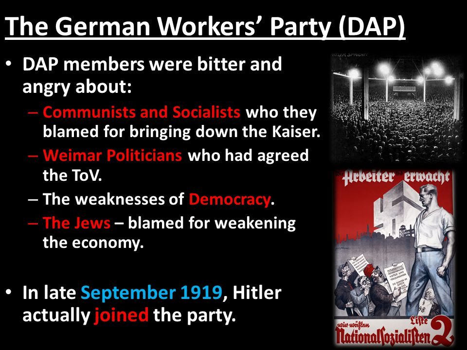 The German Workers' Party (DAP)