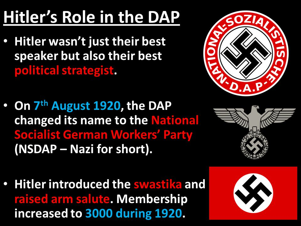 Hitler's Role in the DAP