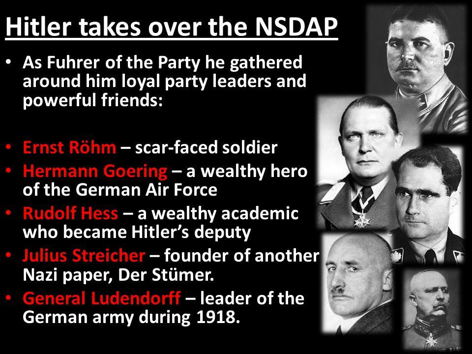 Hitler takes over the NSDAP