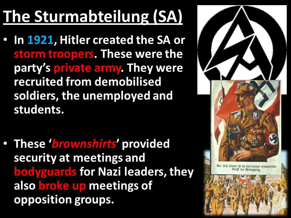 The Sturmabteilung (SA)