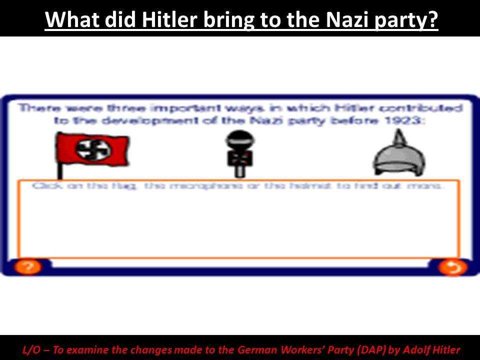 What did Hitler bring to the Nazi party
