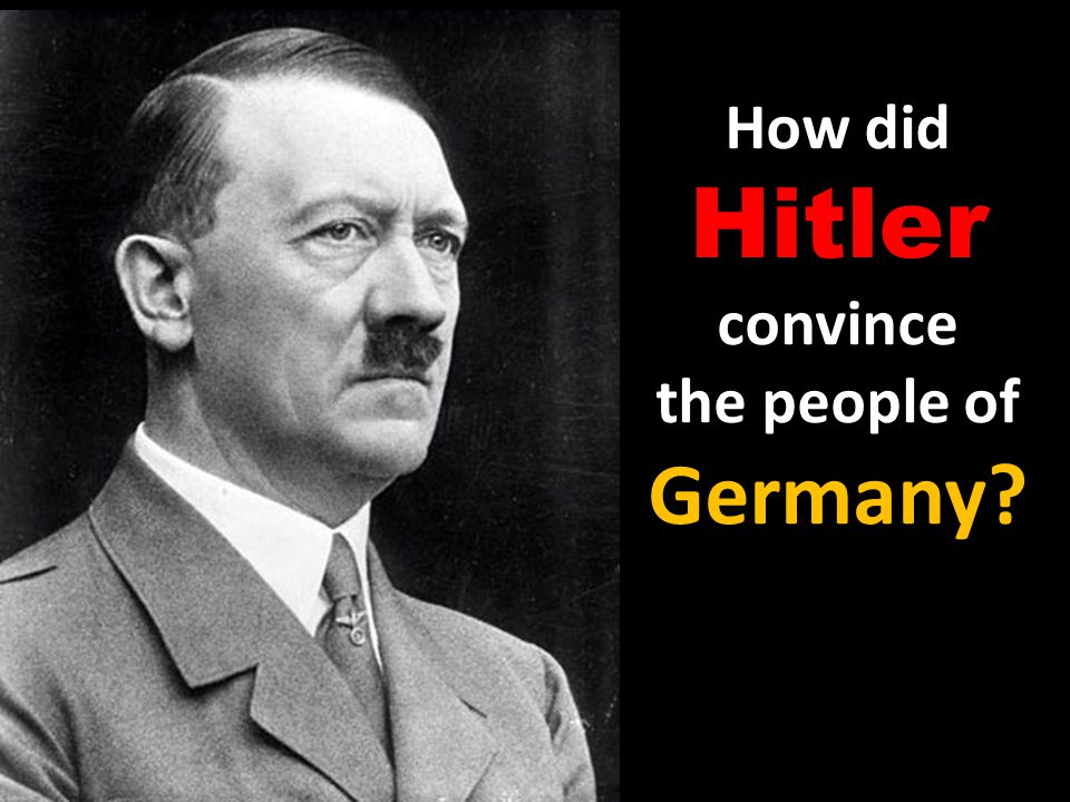 How did Hitler convince the people of Germany