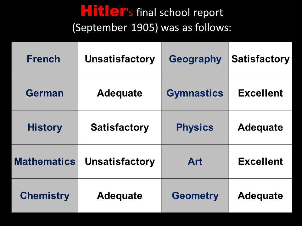 Hitler s final school report