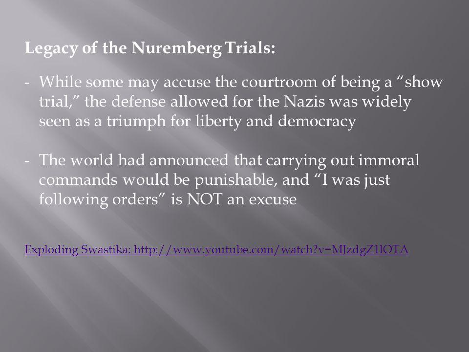 Legacy of the Nuremberg Trials: