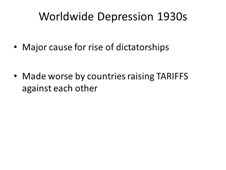 Worldwide Depression 1930s