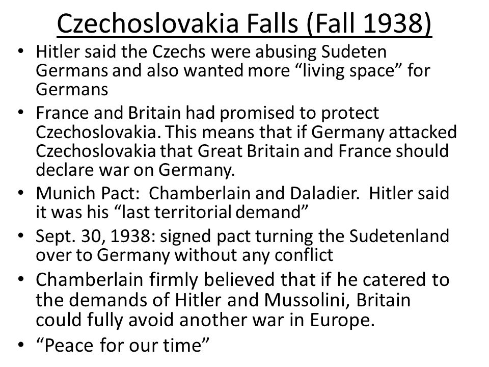 Czechoslovakia Falls (Fall 1938)
