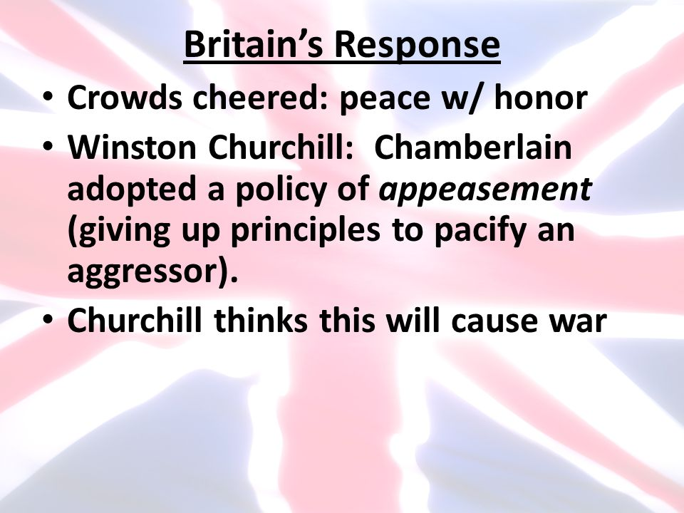 Britain's Response Crowds cheered: peace w/ honor